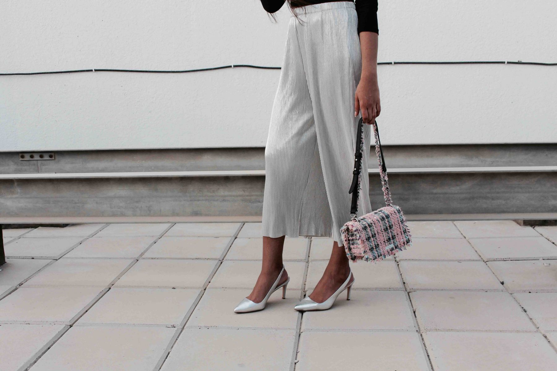 Metallic culottes