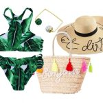 Rosegal summer wish list: Tropical Green Bikini