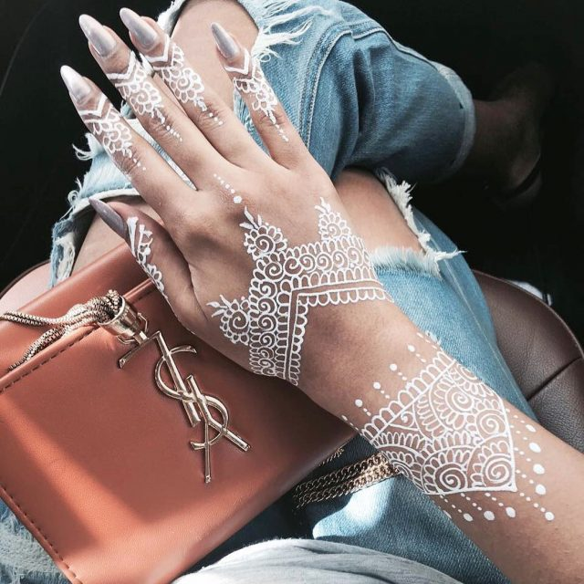 So obsessed with white Henna almost like an accessory byhellip