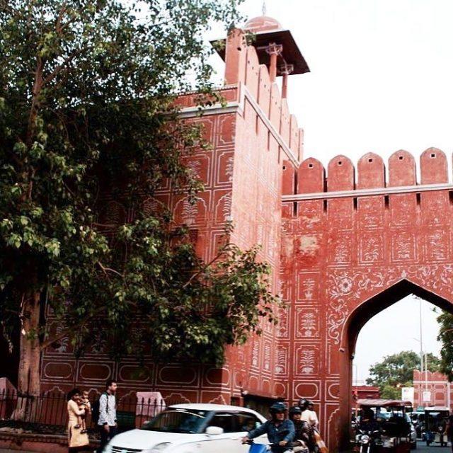 Sanaganeri gate Jaipur Wandering around the streets of Jaipur andhellip
