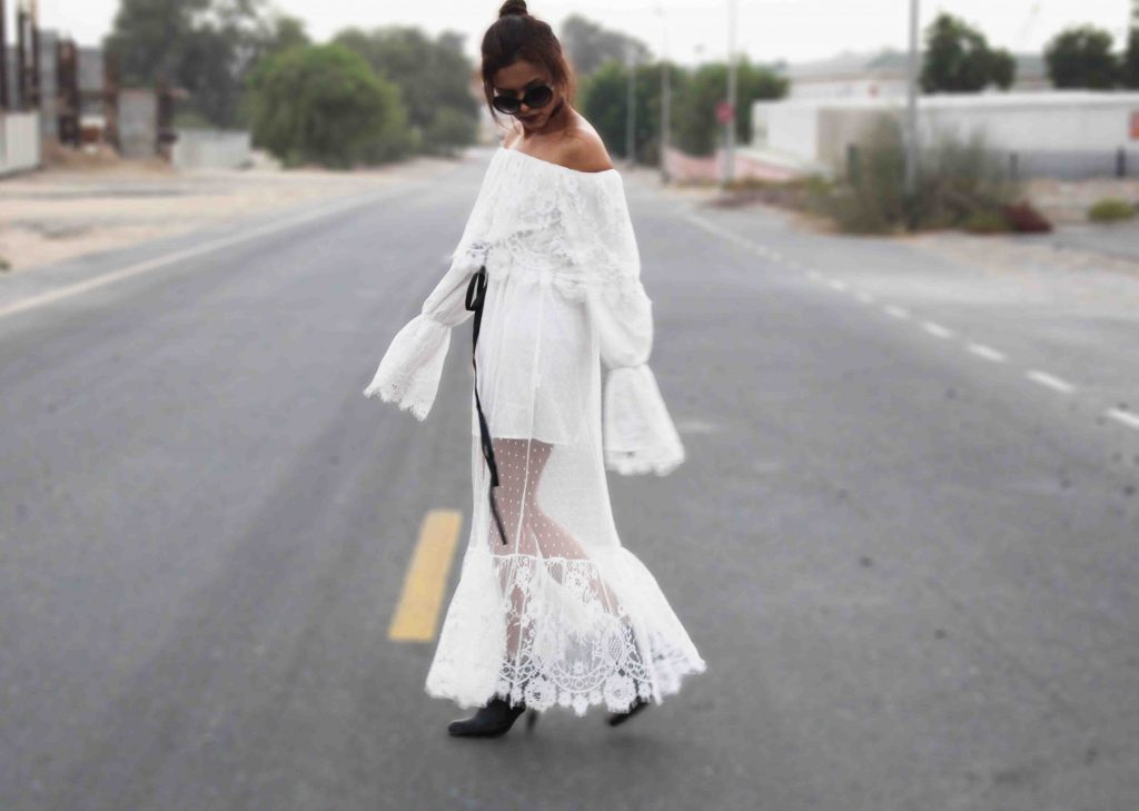 White off shoulder