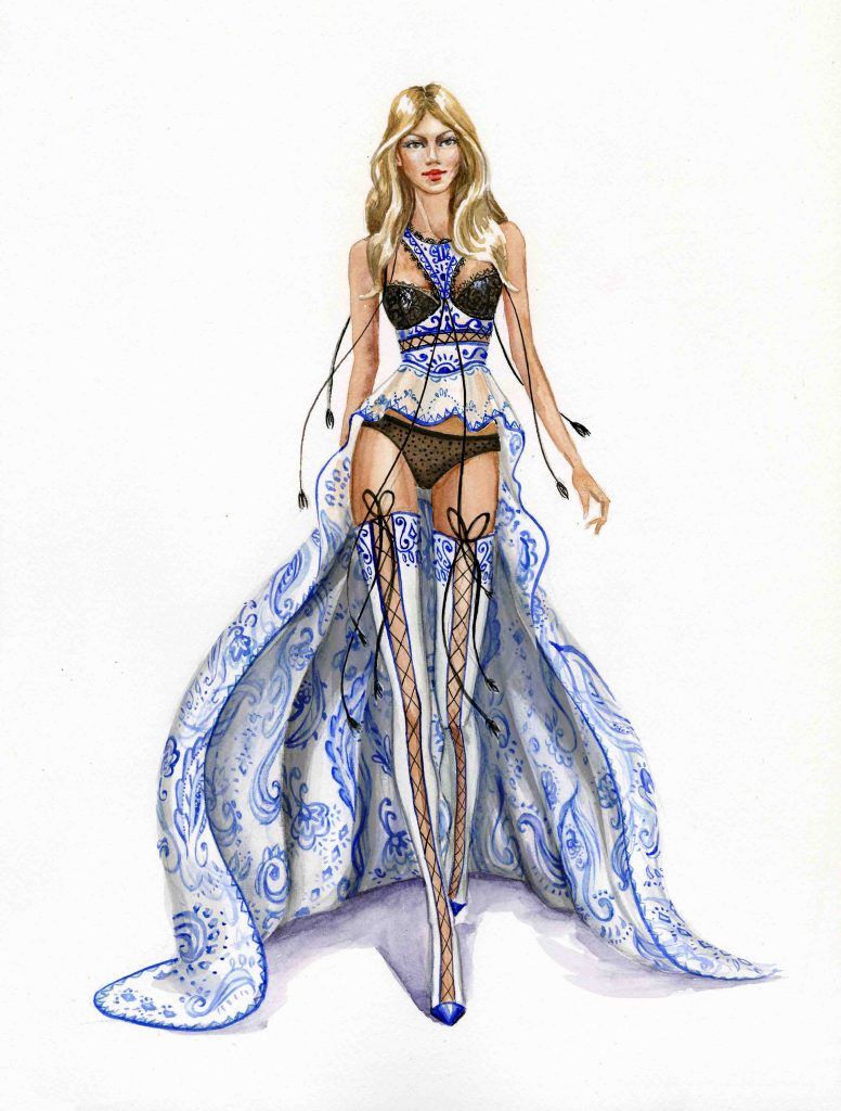 Fashion illustration for Victoria secret