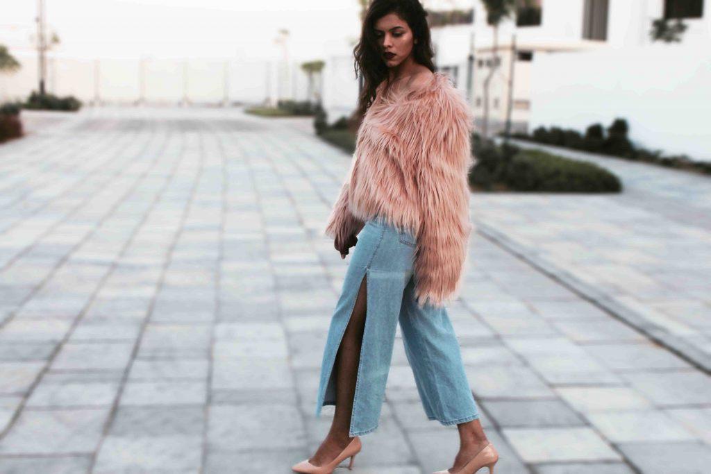 Fur coat PINK