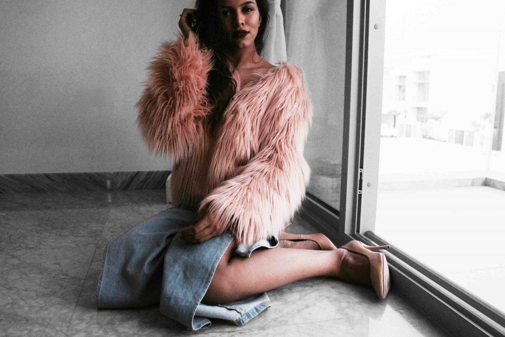 faux fur SHEIN